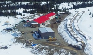 Imperial Metals' Red Chris Mine is close to opening. Camp housing is shown in this photo. (Courtesy Imperial Metals