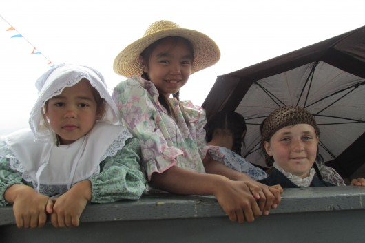 Children dressed as Tsimshian pioneers.
