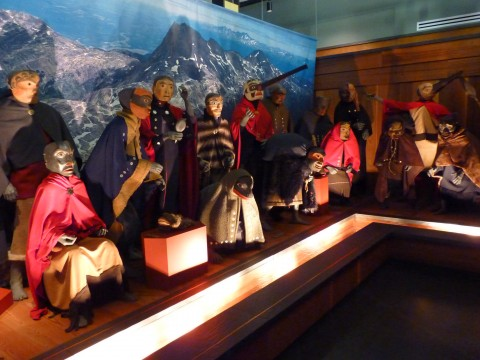 Northwest British Columbia's Nisga'a Museum includes a display of legendary beings occupying the Nass River valley, about 20 miles from the Southeast Alaska border. (Ed Schoenfeld, CoastAlaska News)
