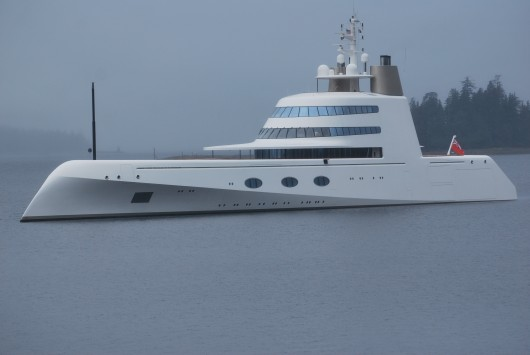 Really big, expensive yacht arrives in Ketchikan