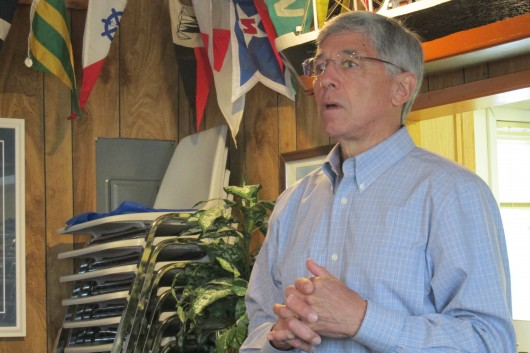 Byron Mallott spoke at a breakfast held by District 36 Democrats at the Ketchikan Yacht Club.