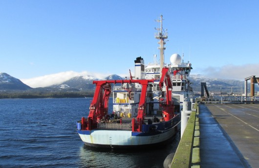 The R/V Sikuliaq is docked at Ketchikan's Berth IV Monday.
