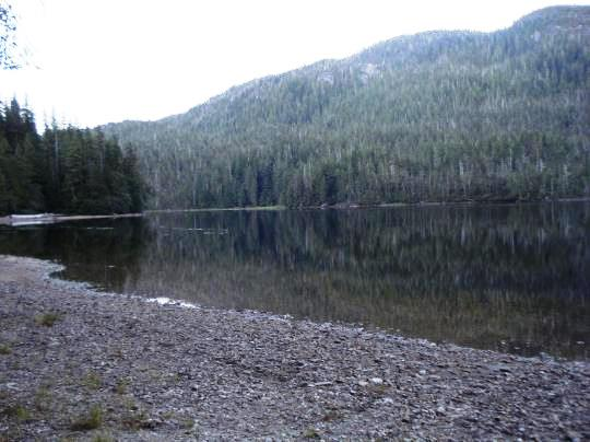 Ella Lake, seen from the U.S. Forest Service cabin at the site. (USFS photo)