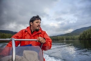 Hydaburg Mayor Tony Christianson goes seine fishing for salmon in Eek Inlet off Prince of Wales Island in Southeast Alaska. (Photo courtesy The Nature Conservancy)
