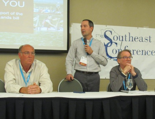 From left, Shawn Richardson, Brian Kleinhenz and Doug Ward were oart of a panel discussion during Southeast Conference this week in Prince Rupert, BC.