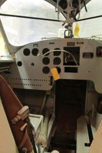 The Goose cockpit.