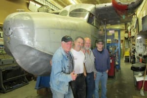 From left to right: Don Dawson, Rick Garner, Arnie Enright and Randy Harris (and the Goose).