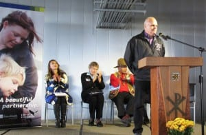 City Mayor Lew Williams III speaks during the dedication ceremony for the PeaceHealth Ketchikan Medical Center addition. (Photo by Leila Kheiry)