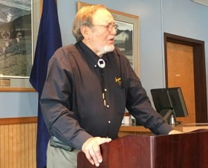 Rep. Don Young, R-Alaska, speaks during a Ketchikan Chamber of Commerce lunch. (Photo by Leila Kheiry)