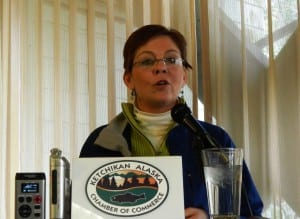 Ketchikan School Board President Michelle O'Brien is resigning from the board, effective Oct. 12. (KRBD file photo)