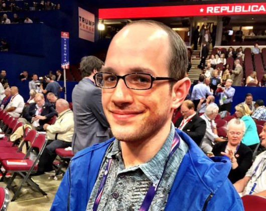Trevor Shaw at the Republican National Convention in Cleveland. (File photo by Liz Ruskin/APRN)