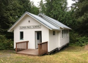 The historic one-room Clover Pass School has been restored, and will be transferred to the Potter Road Association on Sept. 10. (Photo by Leila Kheiry)