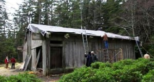 The Whale House prior to restoration (photo courtesy of the Organized Village of Kasaan).