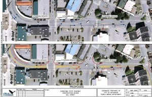 The Alaska Department of Transportation's proposed plan for Mill  Street. Click for a larger image.