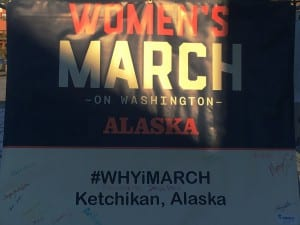 Ketchikan's Women's March was one small part of demonstrations that took place all over the United States and the world. (Photo by Leila Kheiry)