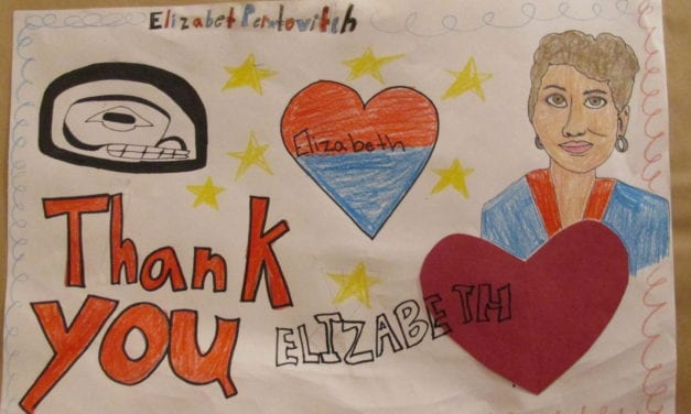 Students celebrate Elizabeth Peratrovich Day