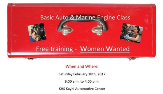 Free basic auto and marine engine class offered