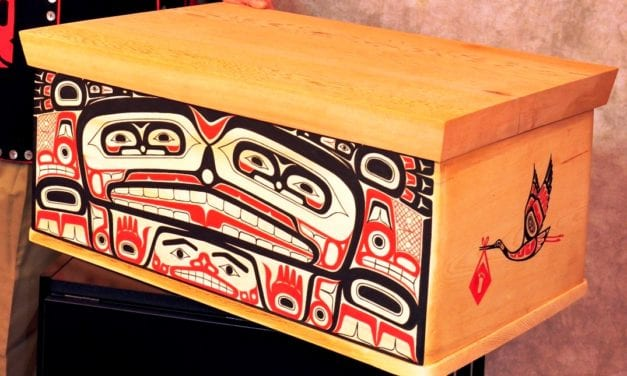 'Baby box' bentwood box donated to PeaceHealth