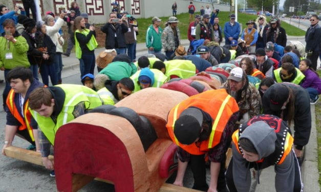 Native groups install totem pole at Gastineau Elementary, lost cemetery