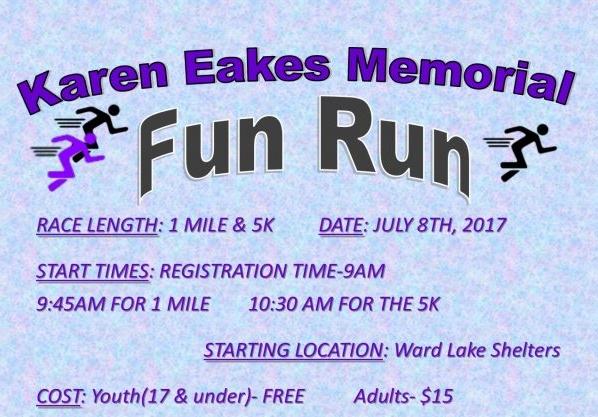 Karen Eakes Fun Run set for Saturday