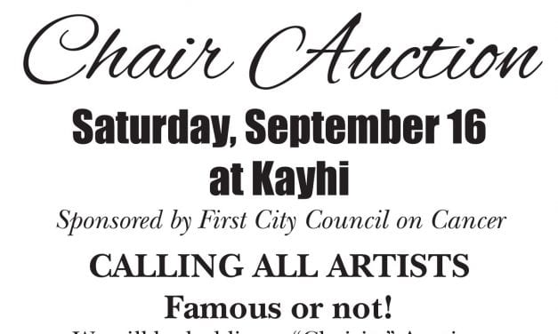 Chair-ity auction to benefit First City Council on Cancer