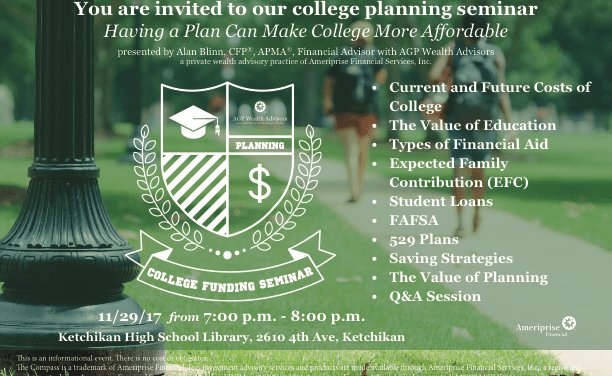 College funding seminar planned for Wednesday
