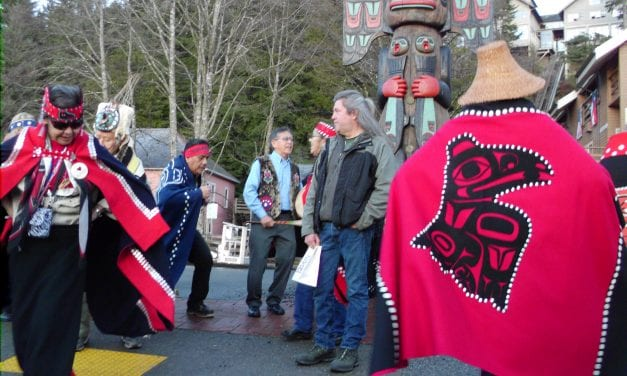 Chief Johnson totem pole raised and rededicated