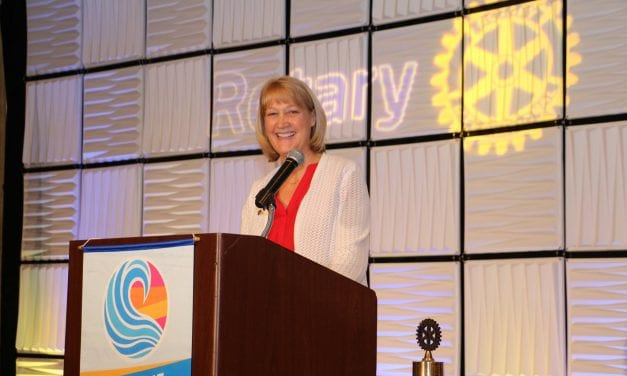 Rotary District Governor visits the First City