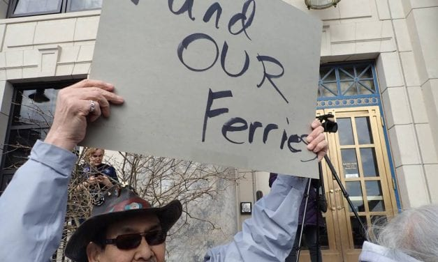 Ferry supporters rally as DOT ponies up $250,000 for privatization study