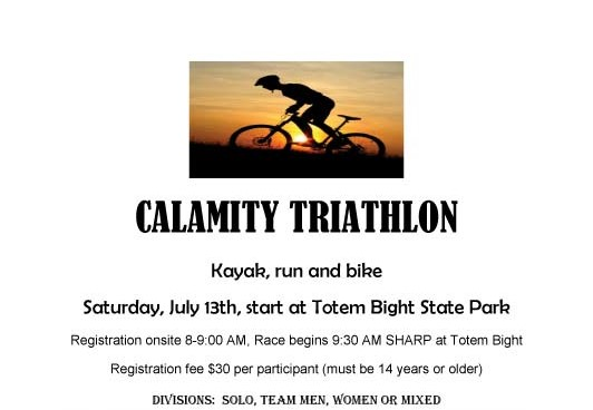 Calamity Triathlon set for July 13th