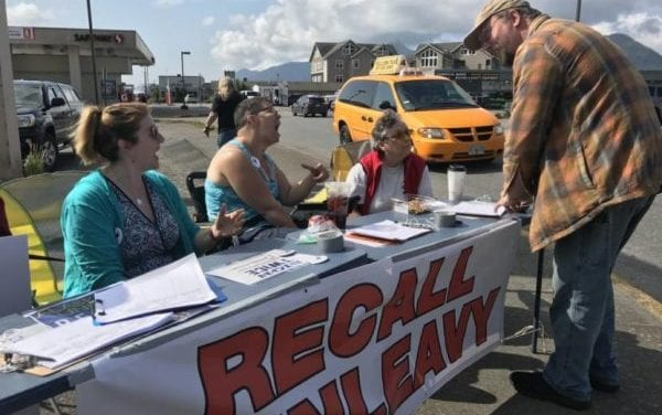 Group seeking Dunleavy recall isn't stopping at minimum as it continues to gather signatures