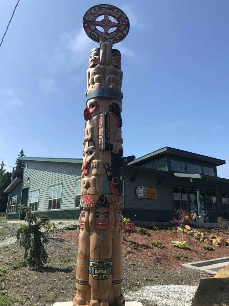 New totem pole raised in Metlakatla - KRBD