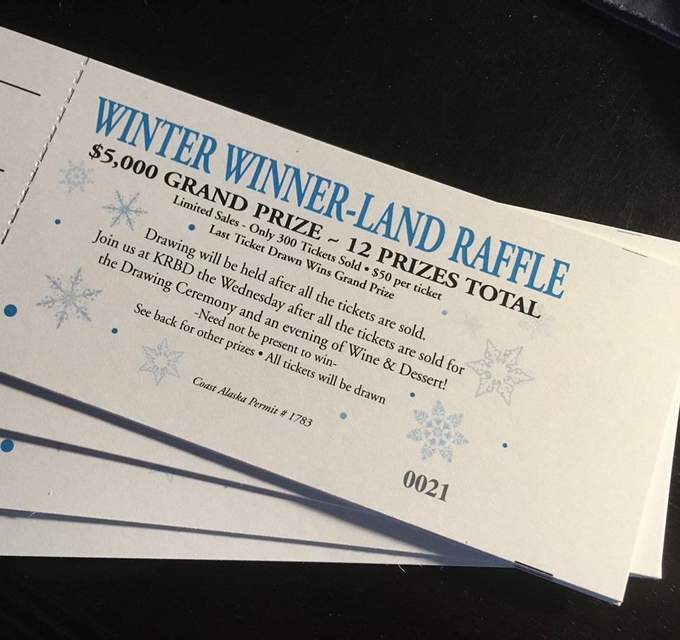 Winter Winner Land Raffle tickets front