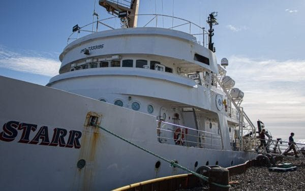 LISTEN: A NOAA research vessel, docked in Nome, offers a peek into multi-year Arctic fish study