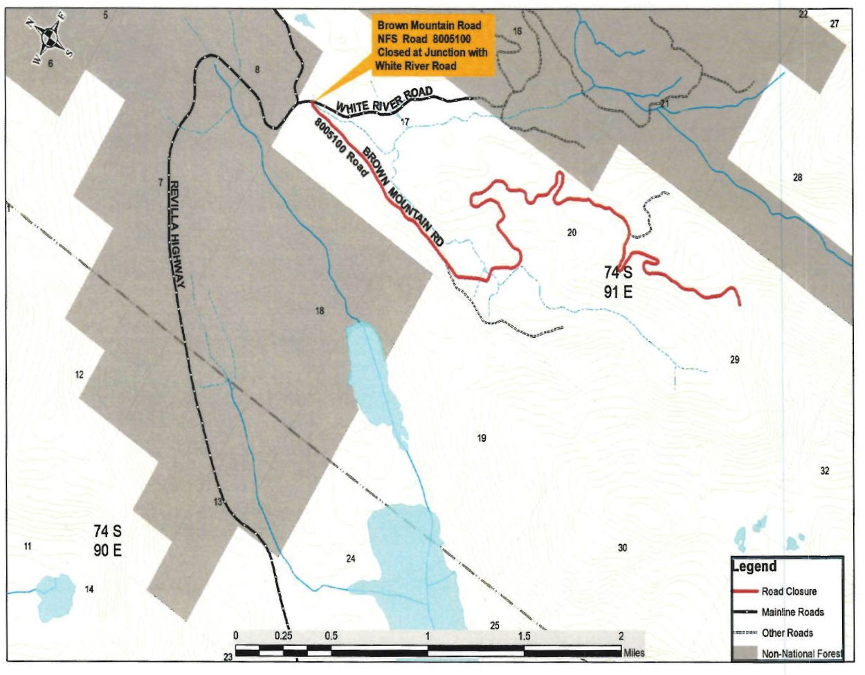 Forest Service closes Brown Mountain Road following mid ...